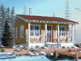 Kis nyaraló, családi ház utcafronti nézete