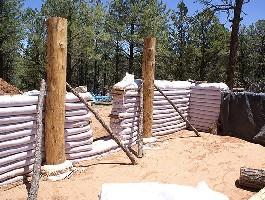 Földzsák házépítés