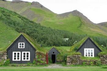 Hagyományos izlandi dombház